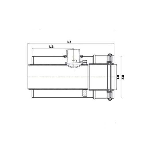 Brilon kondenzvíz leválasztó kondenzációs gázkéményhez PPs/Alu 60/100
