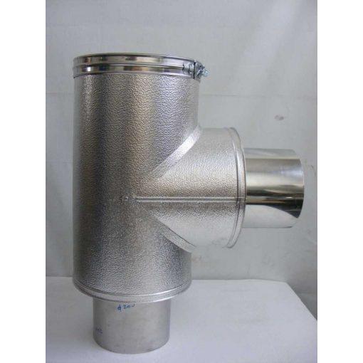 Szerelt kémény bekötő idom NA180/280 MAL Pr. Prémium Inox-Alu