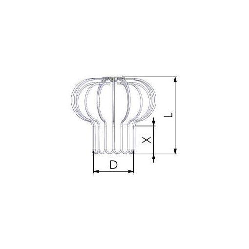 Tricox madárvédő rács kondenzációs gázkéményhez 80-90-100 mm